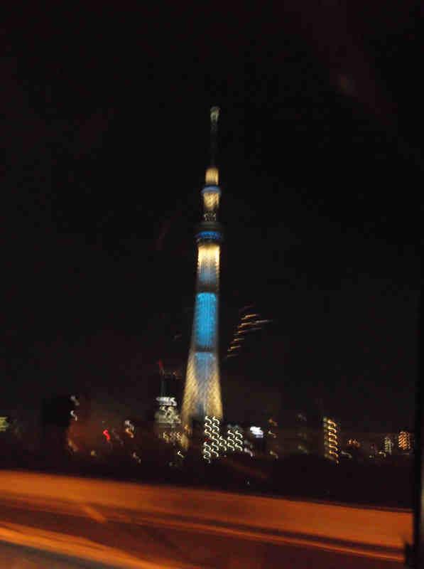 東京スカイツリーを眺め東京をあとに・・・